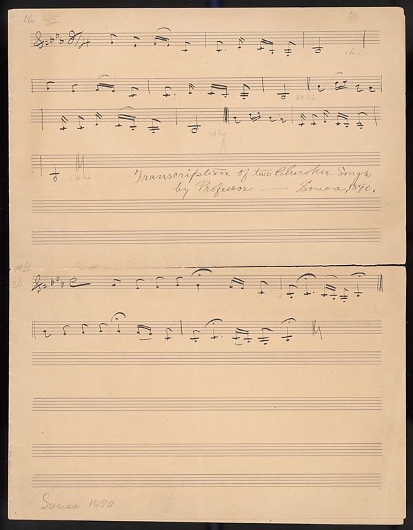 Cherokee Song transcribed by John Philip Sousa