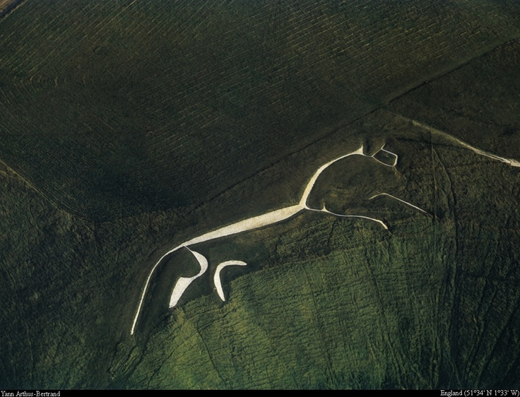 The White Horse of Uffington. This ancient hill carving in Great Britian is the inspiration for one of my beadwoven bracelets.