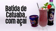 Aprenda a fazer essa batida afrodisíaca de Catuaba com Açaí. Receita completa no site.