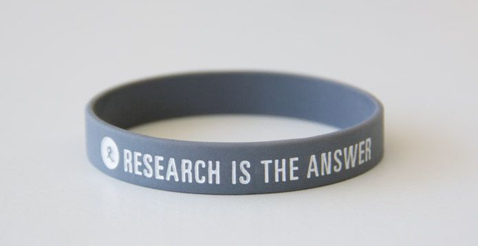 Armband to support OCRF with new messaging 'Reserach is the answer'.