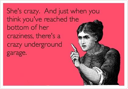 Parking in my crazy underground garage is FREE!