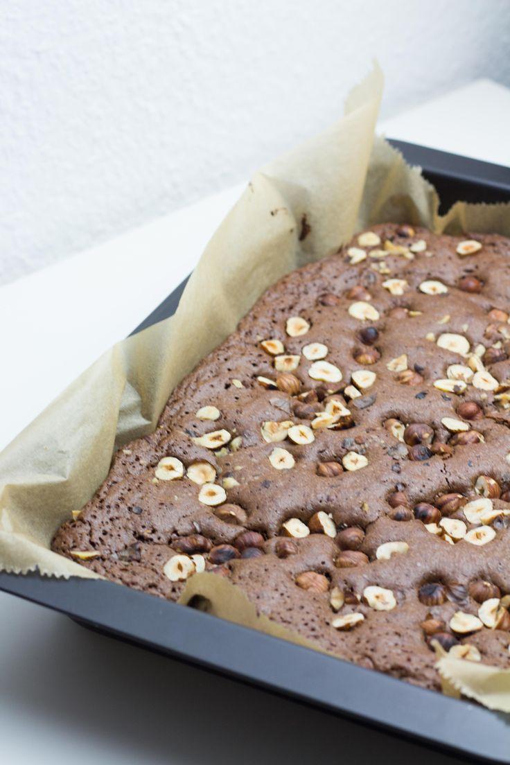 Haselnuss-Brownies ohne Mehl // marsmaedchen.net