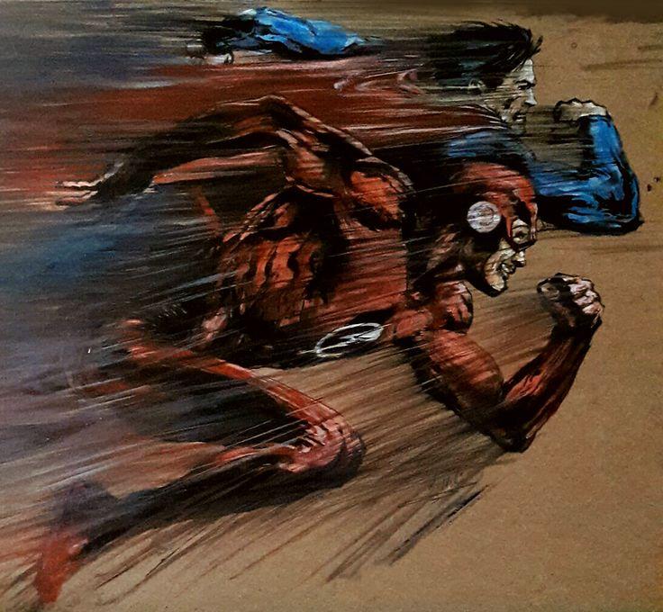 #Superman vs #Flash by Hüseyin Ünlü Kontrplak üzerine #Yağlıboya / Oil on Plywood 50cm x 43cm 1.500₺ / 450$  #gallerymak #karikatur #çizim #cizim #sanat #ig_sanat #karikatür #comic #marvel #hollywood #drawing #sketch #artgallery #cagdassanat #sergi #exhibition #artcurator #contemporaryart #contemporary #artbasel #artsy #artcollector #arte #kunst #artlovers