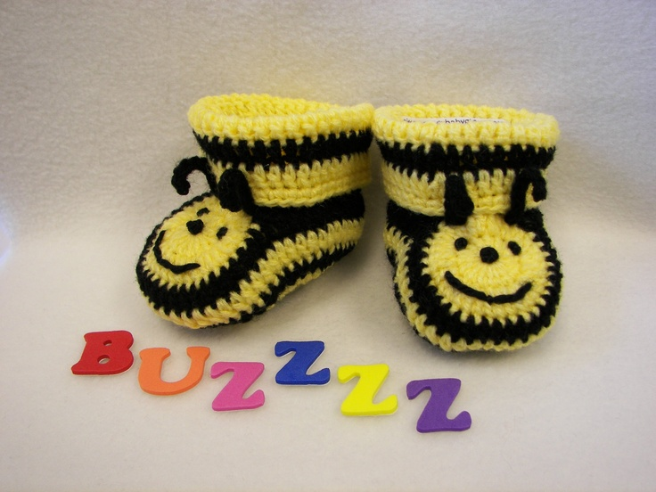 Baby Booties Bumble Bee