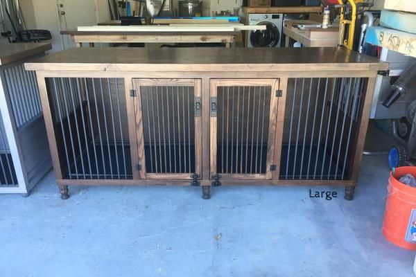 Tired of an ugly metal dog kennel taking up space? We have the solution. Our Dog Kennel is a functional piece of furniture.