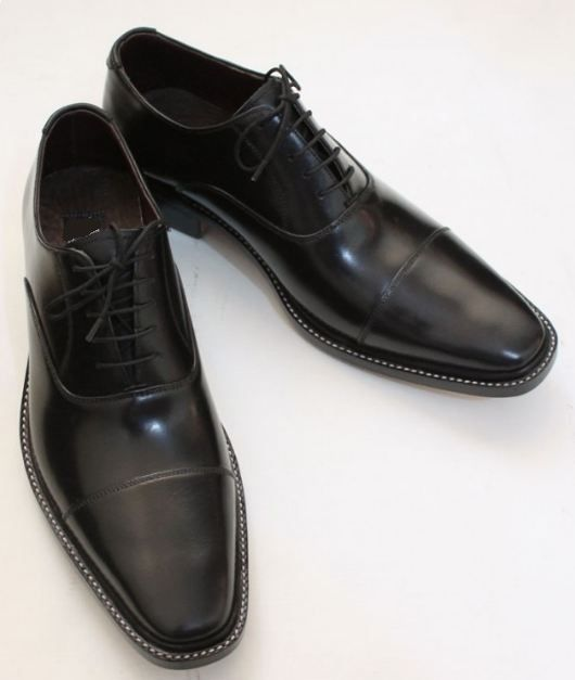 Handmade Men Formal Leather Shoes, Men black oxford Leather Shoes, Mens shoes  #Handmade #Oxfords #Formal
