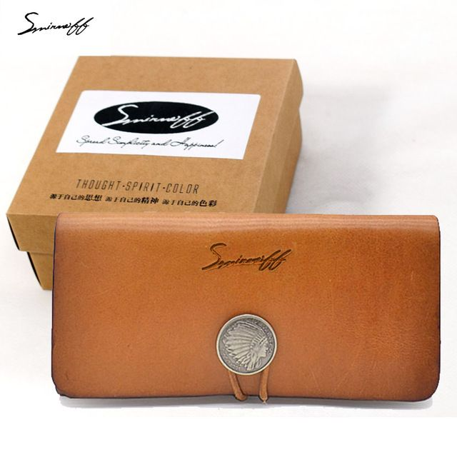 Check lastest price SMIRNOFF Purse  Hand-Planted Cowhide Leather Wallet Women Elegant Retro Indian Head Pattern String Metal Button Long Wallet just only $31.74 with free shipping worldwide  #womanwallets Plese click on picture to see our special price for you