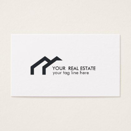 Black house logo real estate agent professional business card - professional gifts custom personal diy