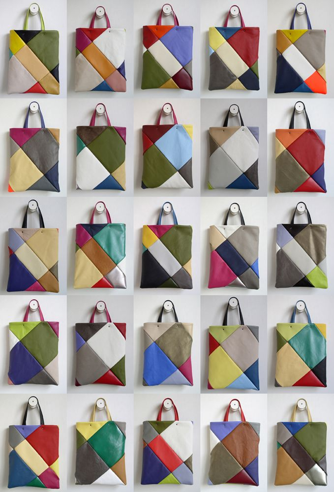 frrry: multiple tote bag...patchwork leather