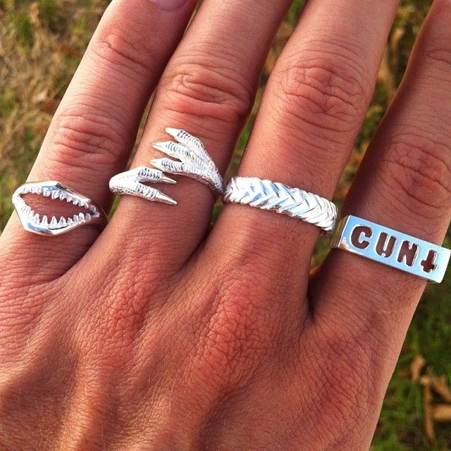 Jaws, Claws! Braided & Cunt Rings Are 50% OFF!! www.iheardtheyeatcigarettes.com xxx