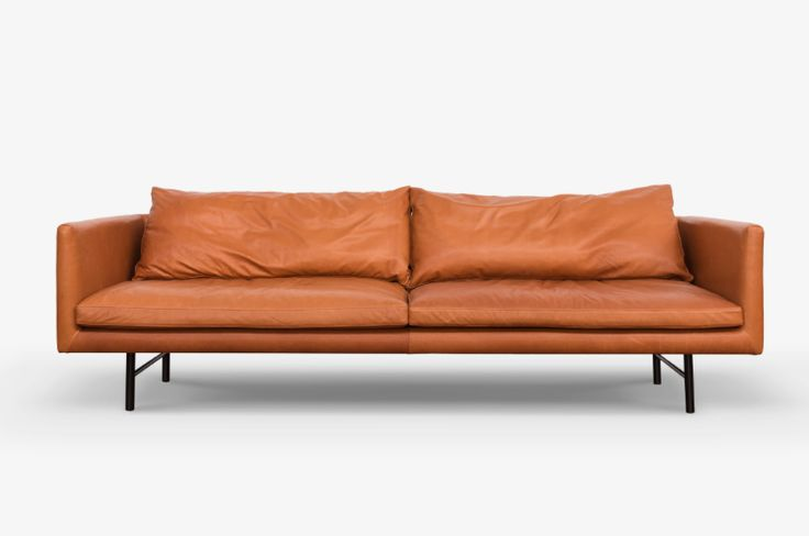 Staple and Co. 'Louis' sofa in leather 2400 x 950. Retail $10,362 now $8,290
