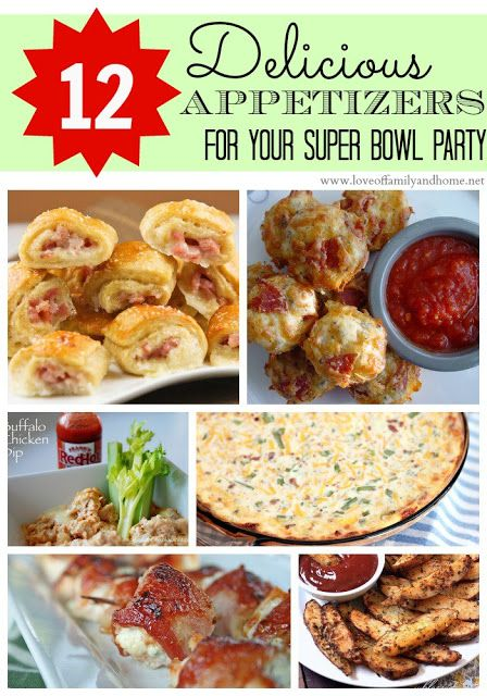 12 delicious appetizers for your super bowl party for Super bowl appetizers pinterest