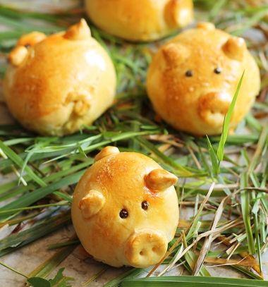 Cute little pig buns with bacon jam // Kolbásszal töltött malackák szilveszterre - sós sütemény // Mindy - craft tutorial collection // #crafts #DIY #craftTutorial #tutorial