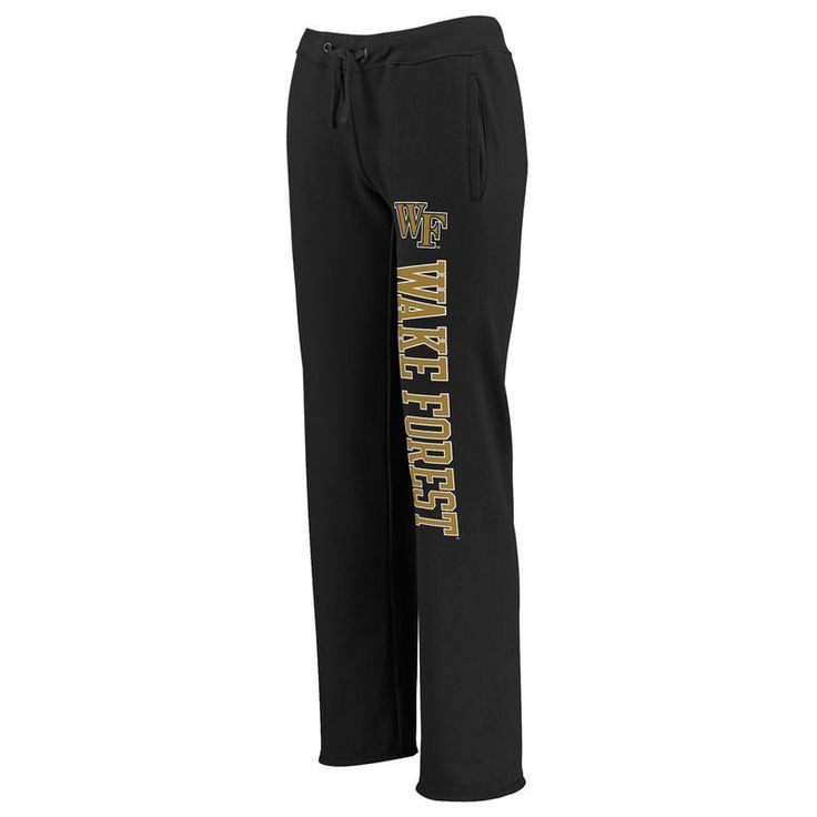 Wake Forest Demon Deacons Fanatics Branded Women's Sideblocker Sweatpants - Black