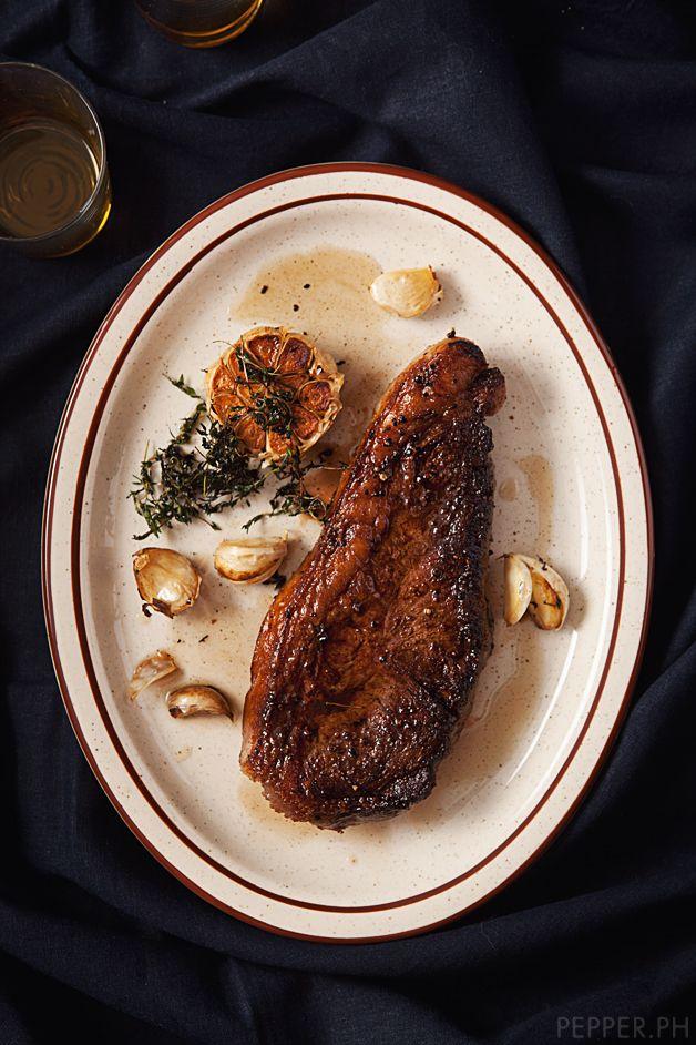 how to cook bison new york strip steak