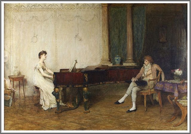 William Quiller Orchardson (1832 - 1910), The Long Recital.