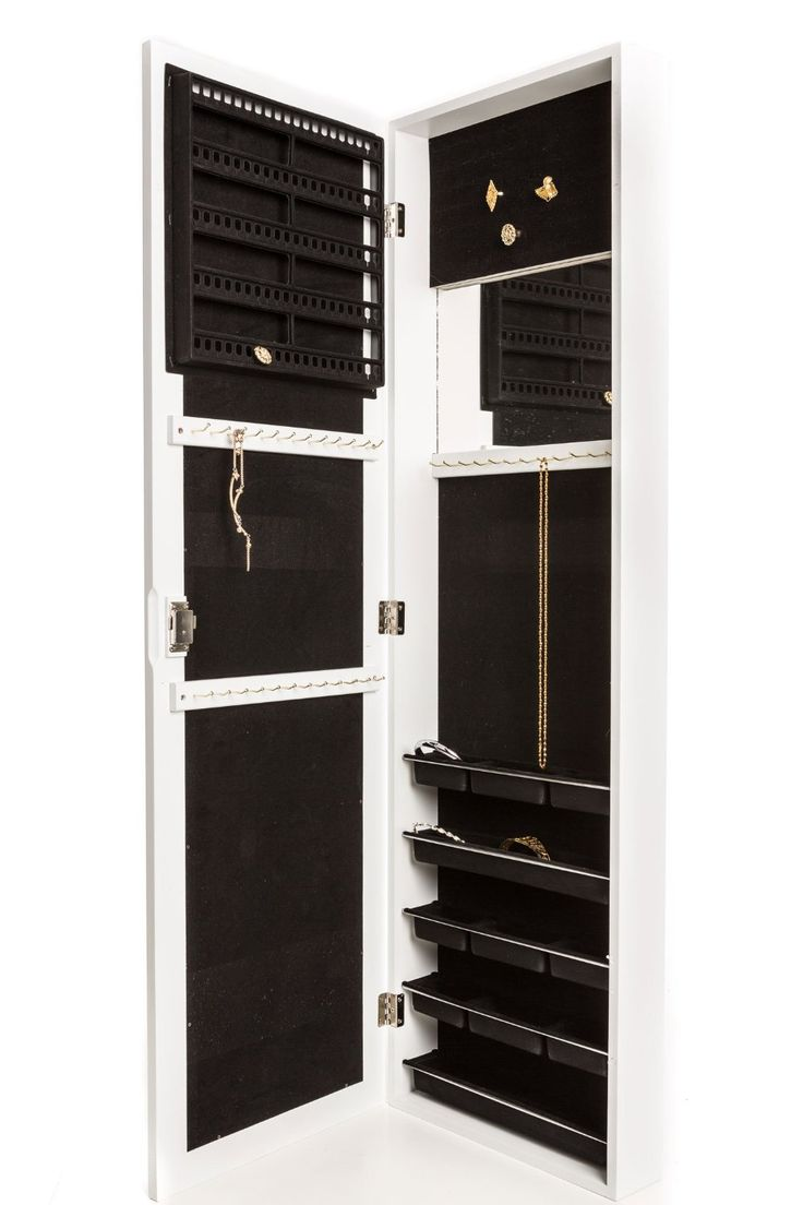 Amazon.com: Jewelry Armoire Wall Mount, Hanging Over The Door Jewelry  Armoire With