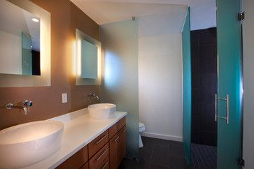 privacy toilet, shower glass wall divider Toilet Divider Design Ideas, Pictures, Remodel, and Decor - page 3