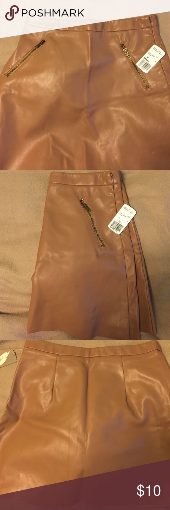 Forever 21 Faux Leather Pencil skirt Neutral brown, faux leather pencil skirt from Forever 21. Brand new with tags, never worn. Forever 21 Skirts A-Line or Full
