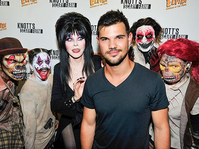 Star Tracks: Tuesday, October 13, 2015 | GHOUL TIME | Taylor Lautner gets into the spirit of Halloween at Knott's Scary Farm in Buena Park, California, on Sunday.