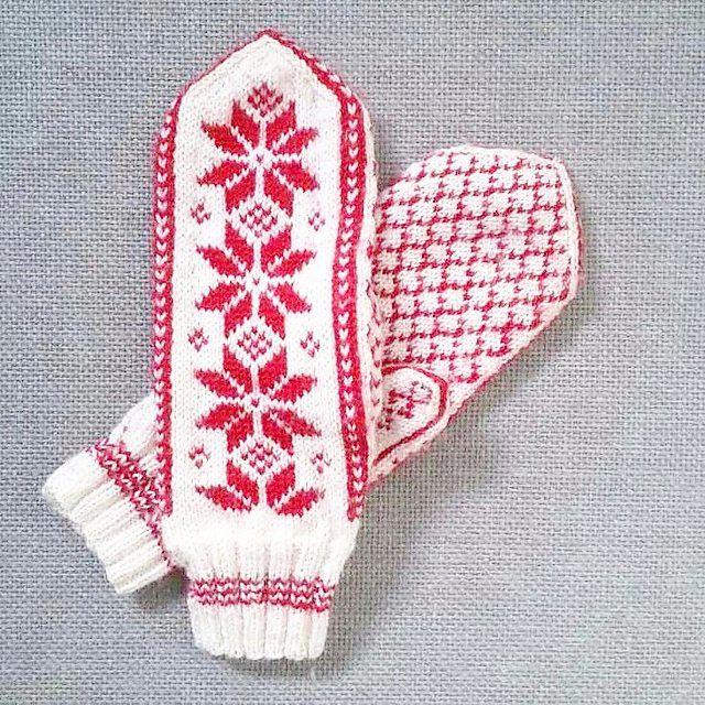 Mobilen min er desverre blitt ødelagt, vanntett betyr visst ikke helt vanntett alikevell! Nå sitter jeg med en reservemobil med dårlig kamera :-\ Viser frem et gammelt bilde (i dårlig kvalitet) av disse vottene idag, så får lillesukkerspinn vises frem senere :-) #Selbuvotter #votter #strikkevotter #mittens #strikk #strikking #strikkedilla #knit #knitting #knits #knittersofinstagram #følgstrikkere #knitstagram