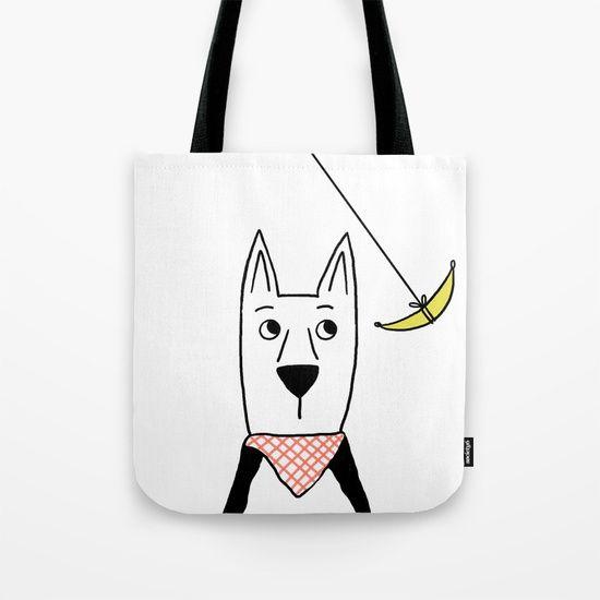Hanna Banana Tote Bag by Luisa Méndez | Society6