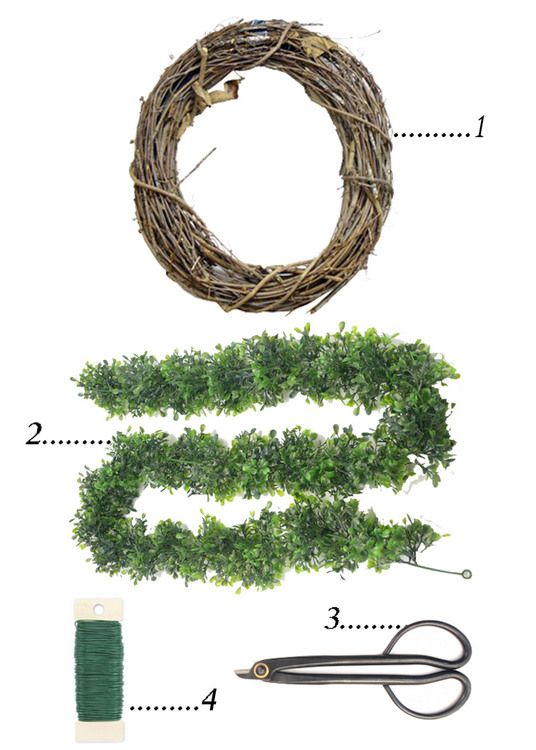 lovesome: a diy faux boxwood wreath