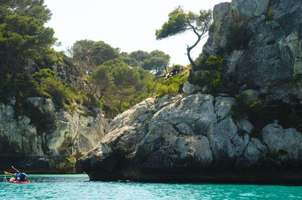 Kayak at Cala Macarella