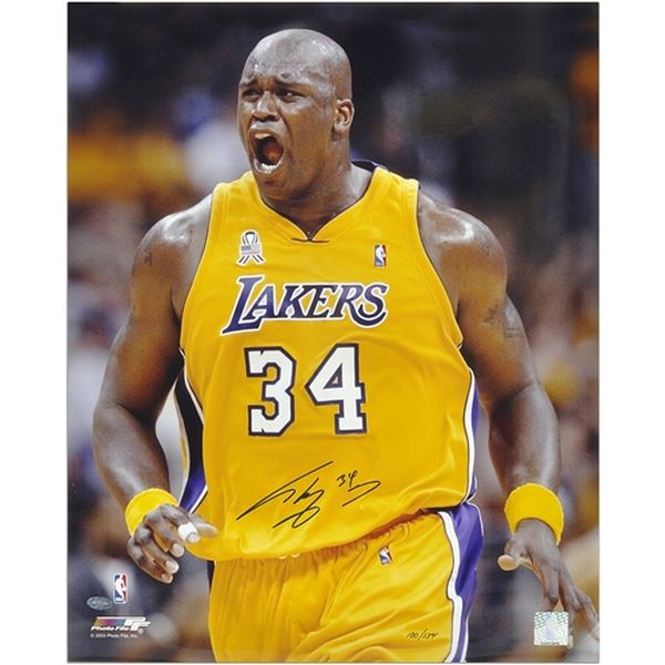 """Shaquille O'Neal Los Angeles Lakers Fanatics Authentic Autographed 16"""" x 20"""" Yelling Photograph-Limited Edition of 134 - $149.99"""