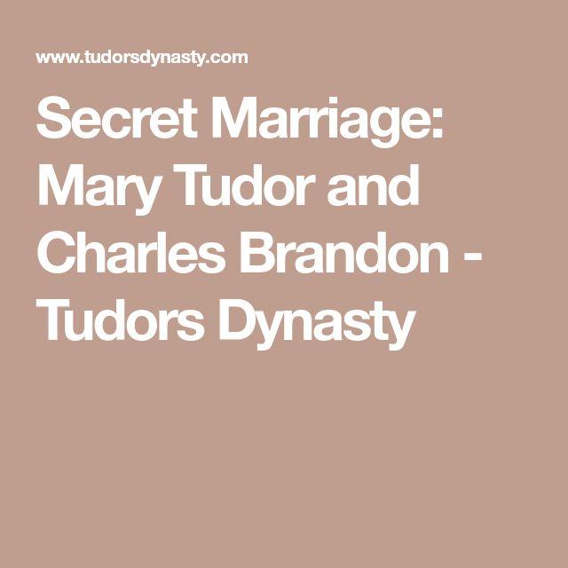 Secret Marriage: Mary Tudor and Charles Brandon - Tudors Dynasty