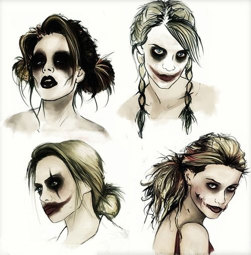 Harley Quinn makeup | this is so coo. thinking od being Harley Quinn for Halloween