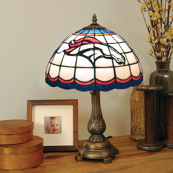 Football Fan Shop Denver Broncos Tiffany Style Table Lamp