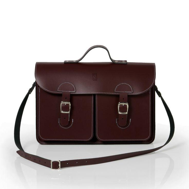 Oldschool Bags- Medium bordeaux rood. Verkrijgbaar bij www.bornidentity.nl