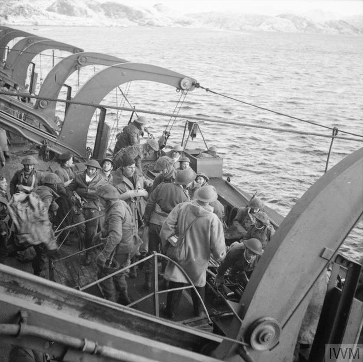 British troops embarking onto HMS PRINCE LEOPOLD after the raid.