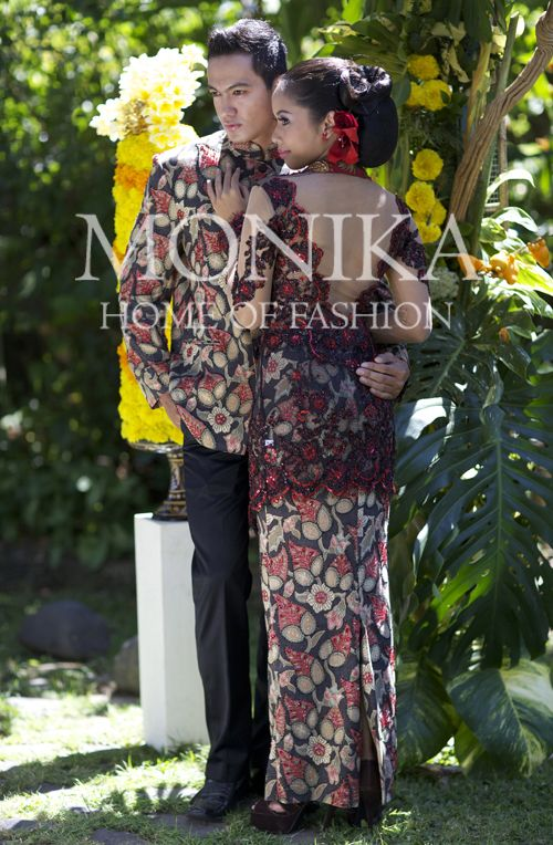 Black Red Batik Safari & Kebaya
