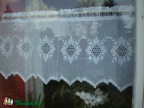 Múlt idéző,fehér vitrázs horgolt csipke függöny. (HANDMAKE) - Meska.hu