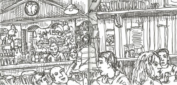 Irish Pub http://cargocollective.com/marianasantos http://marianasantosillustration.wordpress.com