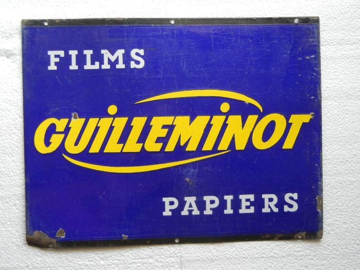 Rare Vintage Guilleminot Film Paper Porcelain/Enamel Sign Board ADV EHS