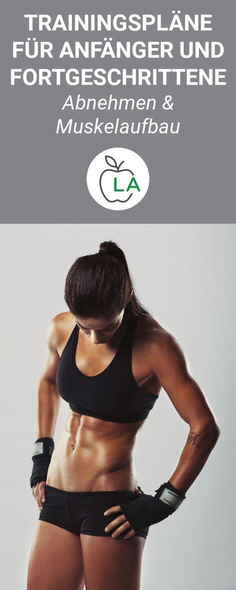 Trainingsplan zum Abnehmen und für den Muskelaufbau