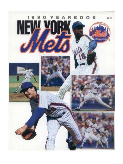 Every Mets Yearbook In Team History In 2020 New York Mets Baseball Mets Yearbook Covers