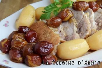 Rôti de porc aux prunes d'Ente
