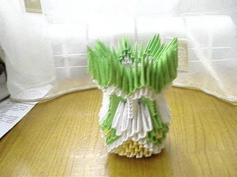3d origami vase tutorial 2 kph crafts pinterest