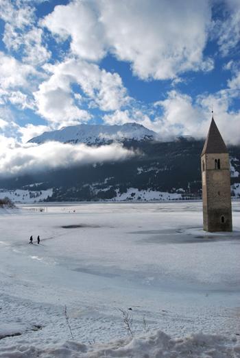 Resia Lake, Curon Venosta, Italy by Fabipasticcio
