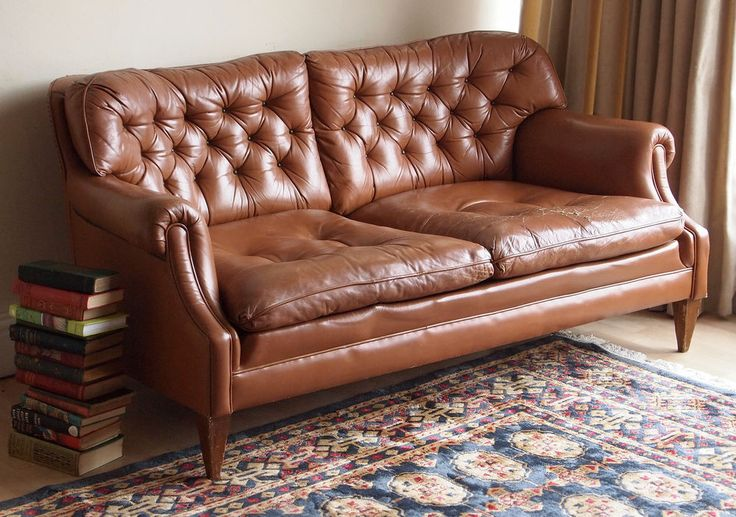 Vintage 1940s Style 3 Pc Leather Leatherette Lounge Suite