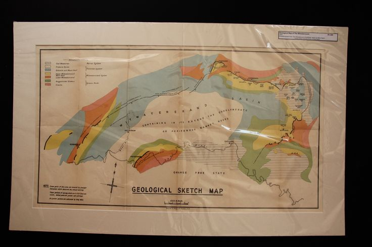Geological Map of the Witwatersrand, Johannesburg from the book The Witwatersrand Goldfields by Hans Sauer 1933