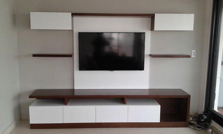 Mueble wall unit quantum de 260cm de largo con cajonera de - Mueble televisor ikea ...
