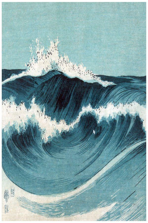 NEW LARGE WAVE CRASHING ROUGH SEA OCEAN SURF WATER WALL ART PRINT PREMIUM POSTER