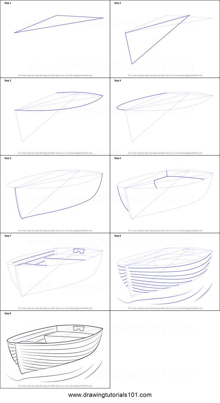 How to Draw Boat at Dock printable step by step dr…