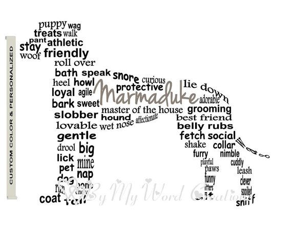 Personalized Pet Art Print Dog Art Print Dog by ByMyWordCreations