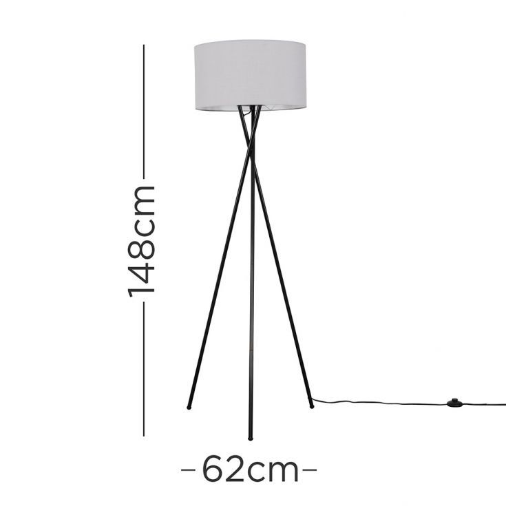 Camden Black Tripod Table Lamp with